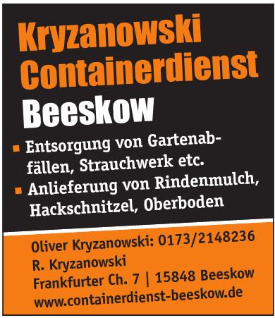 Kryzanowski Containerdienst Beeskow
