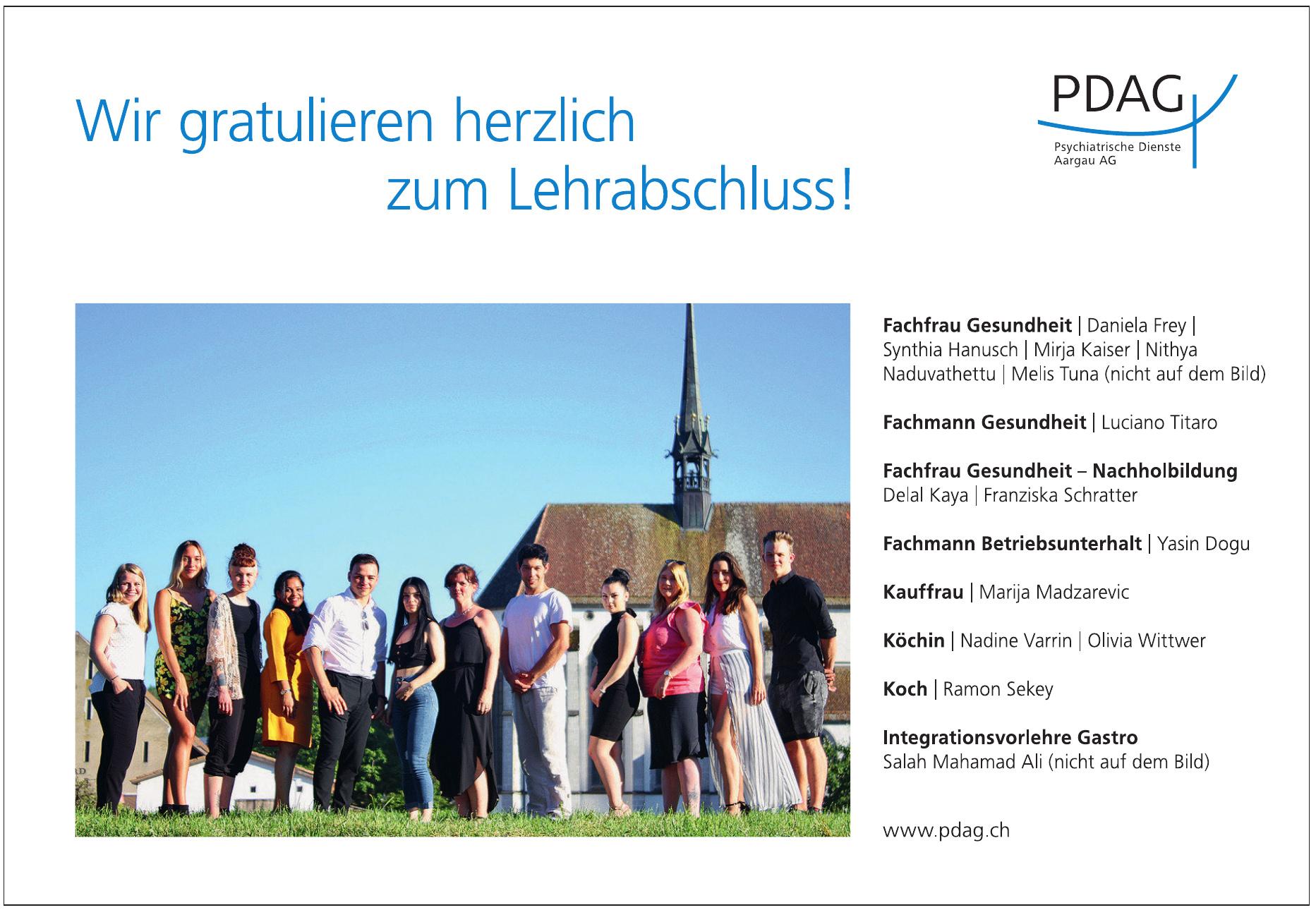 PDAG Psychiatrische Dienste Aargau AG