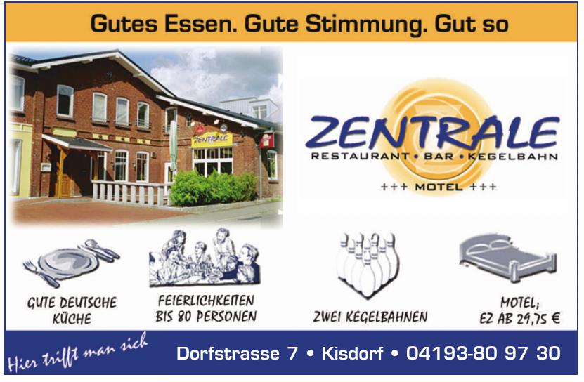 Zentrale Restaurant+Bar+Kegelbahn