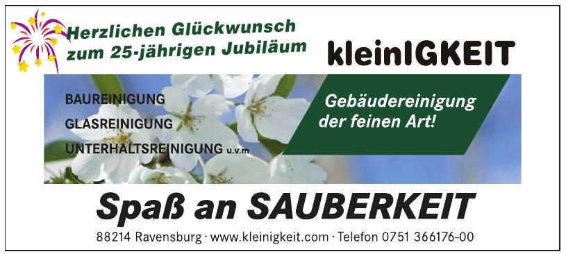 KleinIGKeit