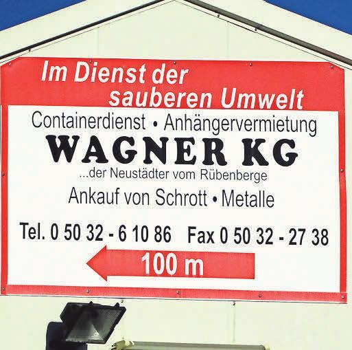 Erfahrung sowie Professionalität zeichnen die Wagner KG aus.