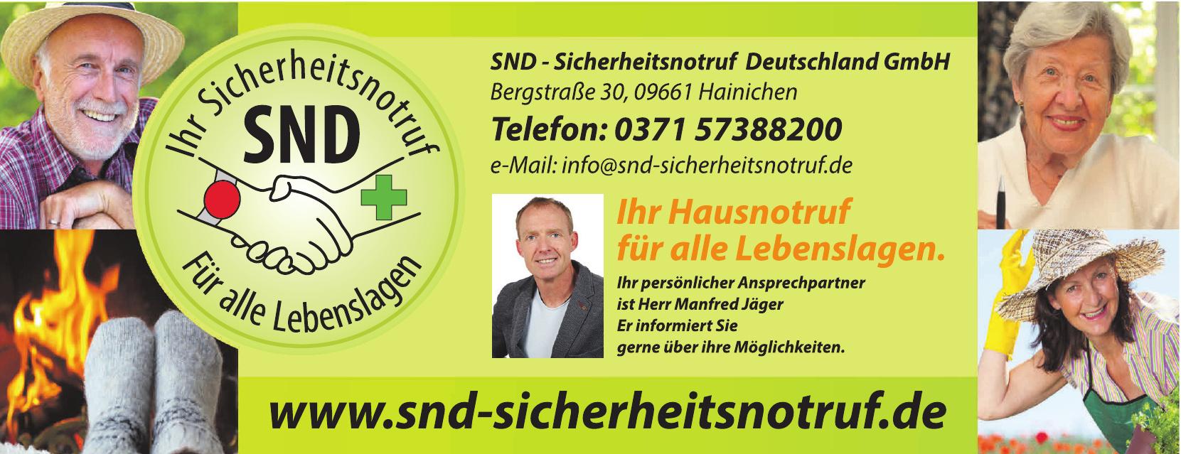 SND - Sicherheitsnotruf Deutschland GmbH
