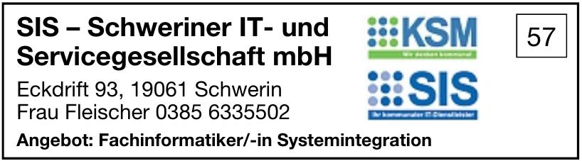 SIS – Schweriner IT- und Servicegesellschaft mbH