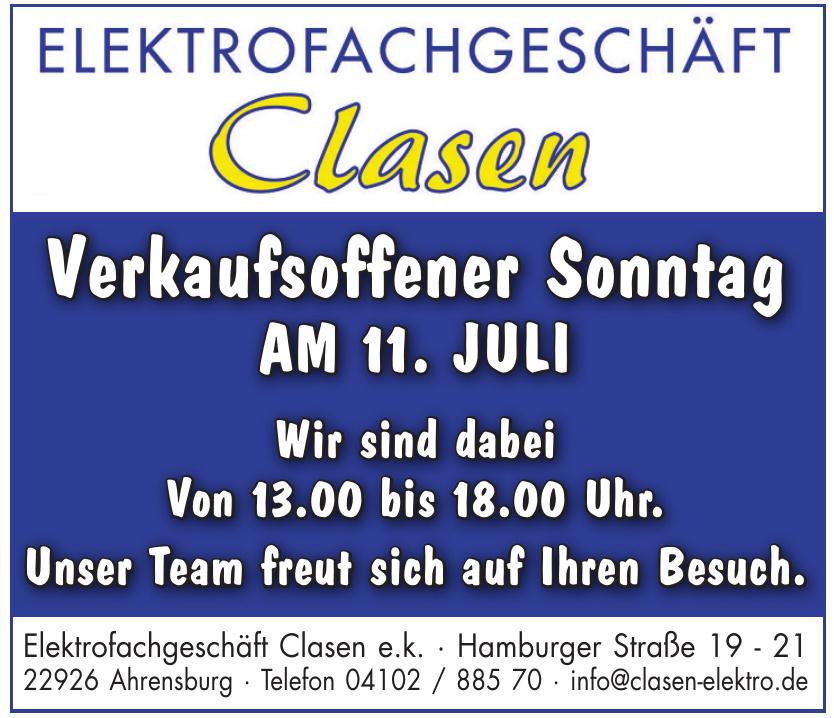 Elektrofachgeschäft Clasen e. k.