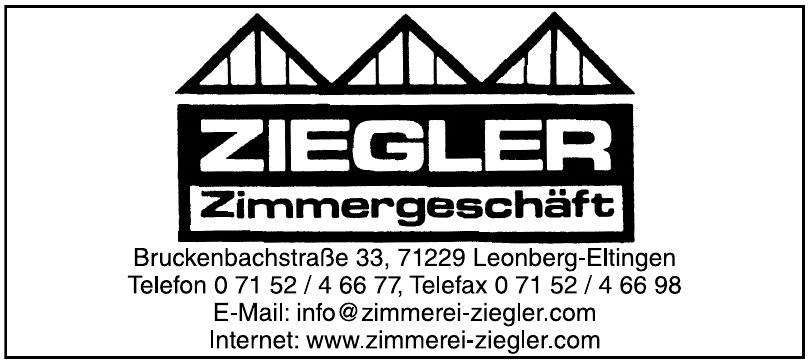 Jürgen Ziegler Zimmergeschäft GmbH & Co. KG