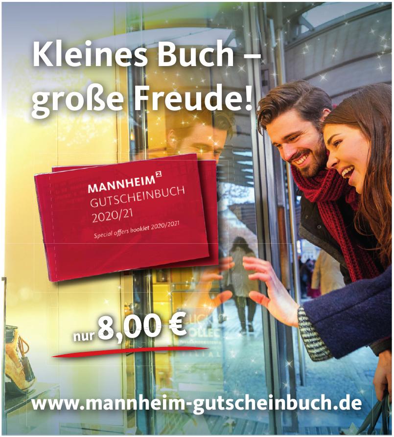 Mannheim Gutscheinbuch 2020/21