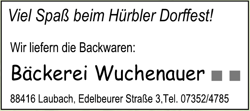 Bäckerei Erwin Wuchenauer