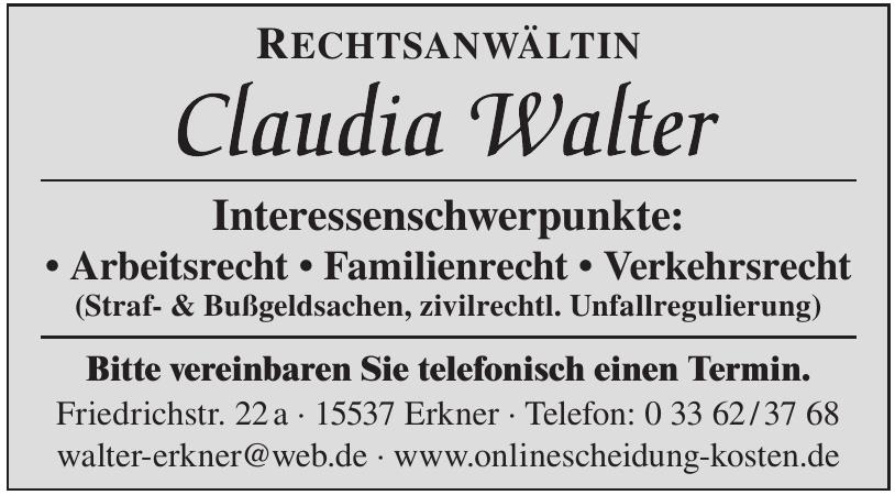 Rechtsanwältin Claudia Walter