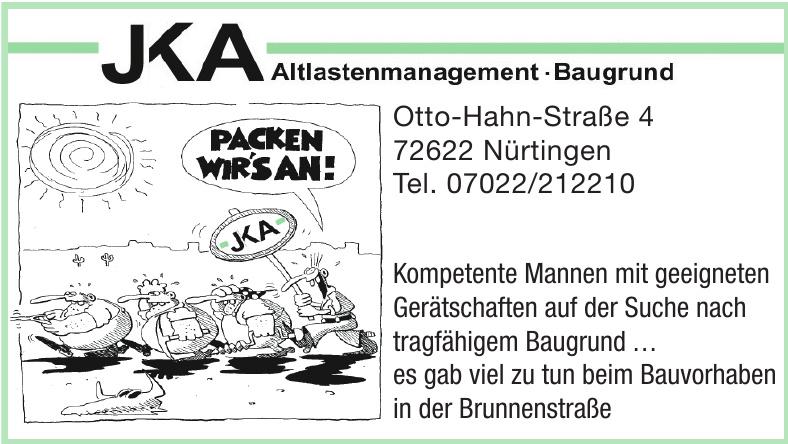 JKA Altlastenmanagement - Baugrund