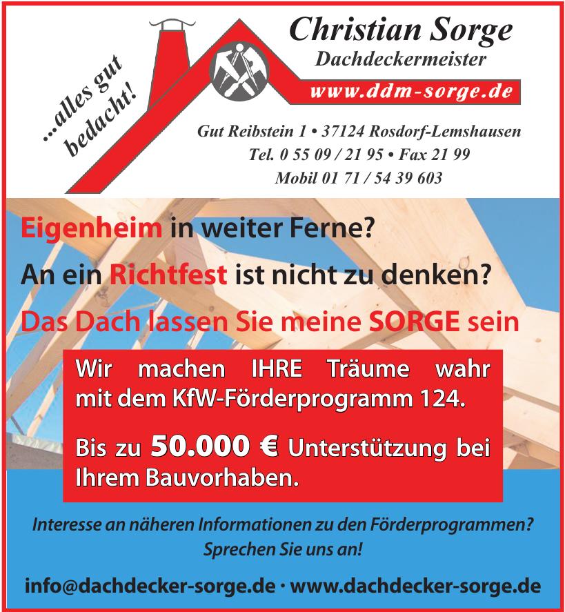 Christian Sorge Dachdeckermeister