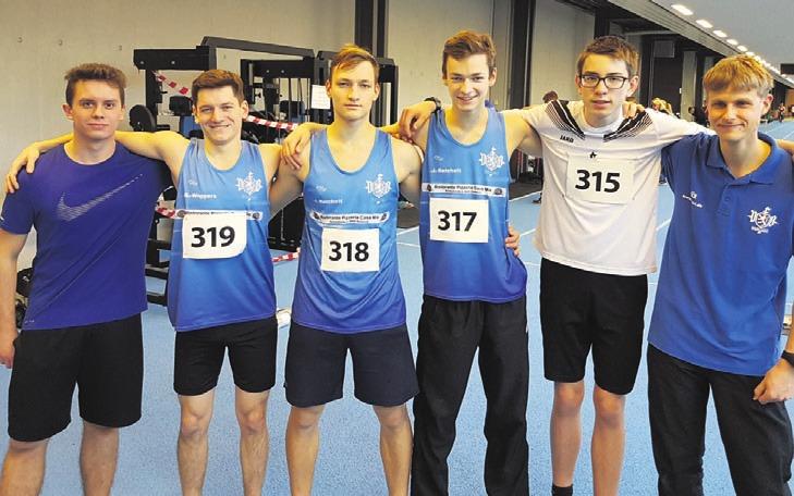 Jakub Kral, Benno Wiggers, Josef Reichelt, Jacob Reichelt, Pascal Krüger und Felix Kühne (von links). Foto: VfB Fallersleben