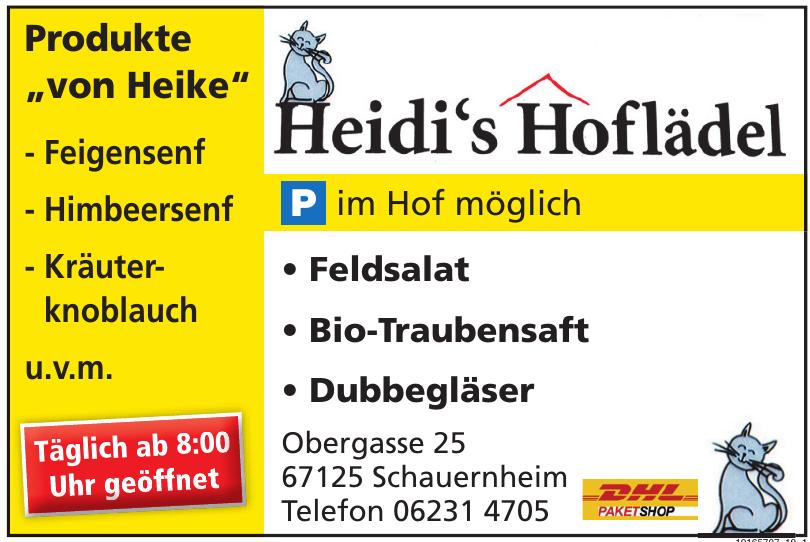 Heidi´s Hoflädel