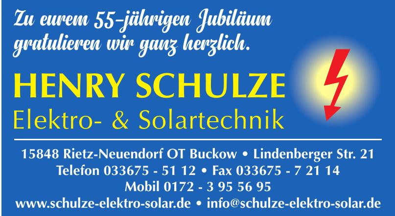 Henry Schulze Elektro- & Solartechnik