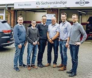 Das kompetente Sachverständigen- Team von Engel & Harder. FOTO: HFR