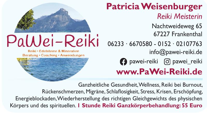 Patricia Weisenburger Reiki Meisterin