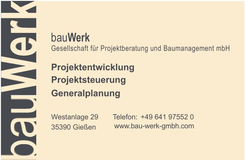 bauWerk Gesellschaft für Projektberatung und Baumanagement mbH