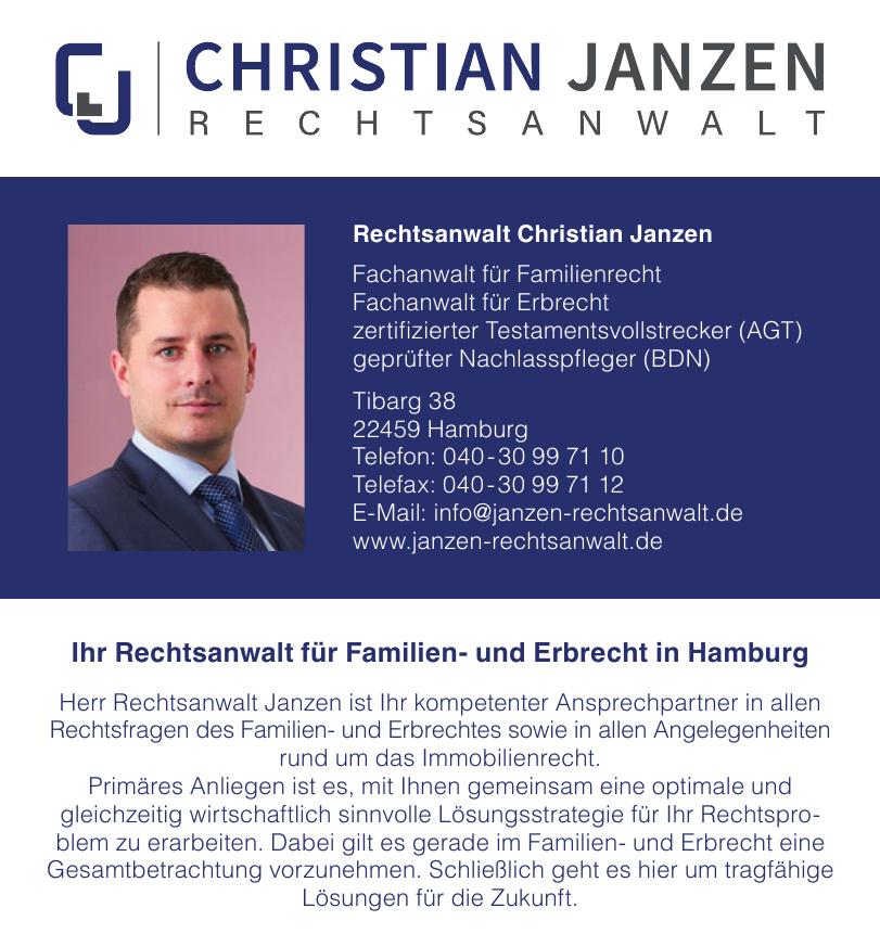 Rechtsanwalt Christian Janzen