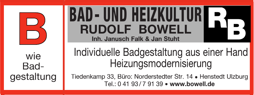 Bad- und Heizkultur Rudolf Bowell