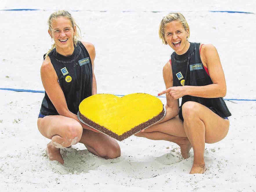 EDEKA-Zentrale verlängert Zusammenarbeit mit Beachvolleyball- Team Laura Ludwig und Maggie Kozuch.