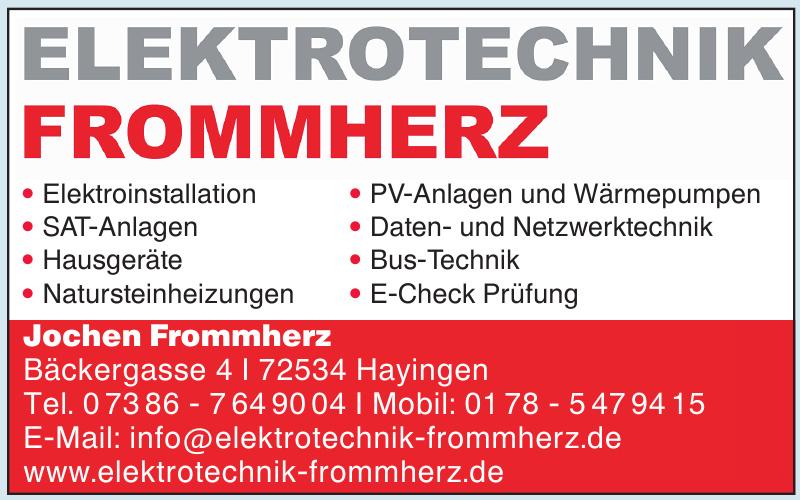 Elektrotechnik Frommherz, Jochen Frommherz