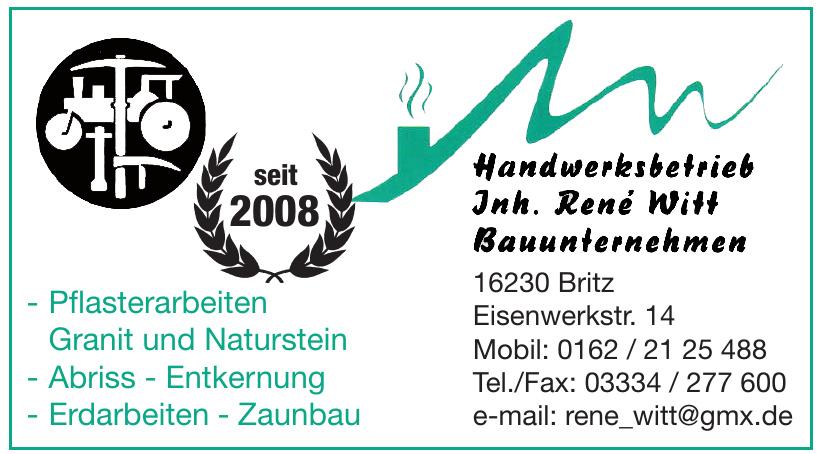Handwerksbetrieb Inh. René Witt, Bauunternehmen