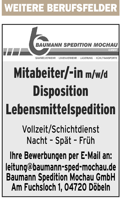 Baumann Spedition Mochau GmbH