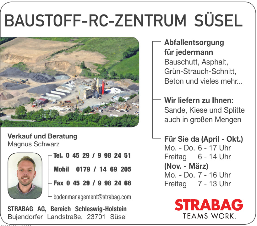 Strabag AG, Bereich Schleswig-Holstein