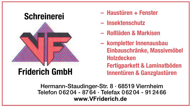 Schreinerei Friderich GmbH