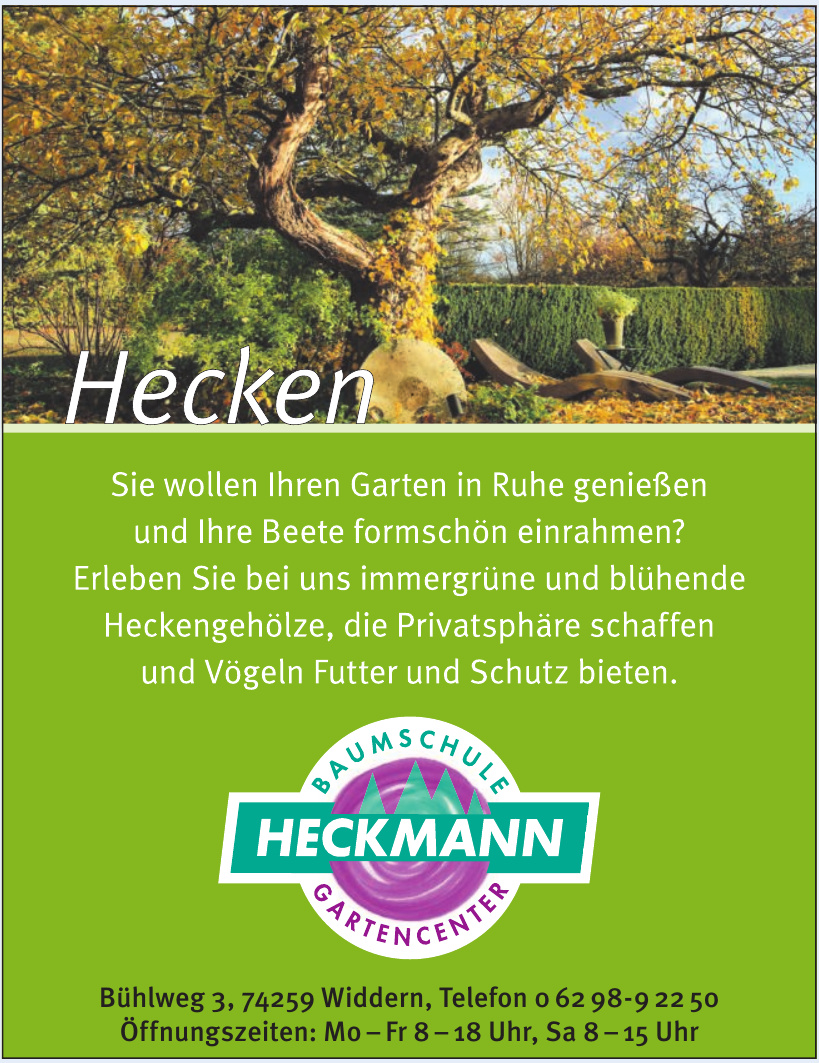 Heckmann Baumschule-Gartencenter