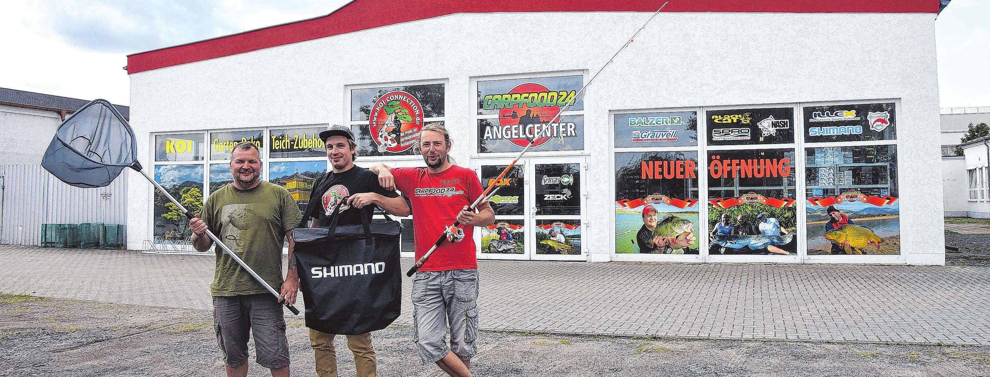 Geschäftsführer Ronny Laabs, Ulrich Räther und Lars Wernicke (v.l.) freuen sich auf die Neueröffnung.Foto: Reinhard Witteck