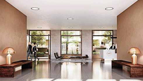 Prestigeobjekt Pure: Concierge in der Lobby.FOTO ZIEGERT