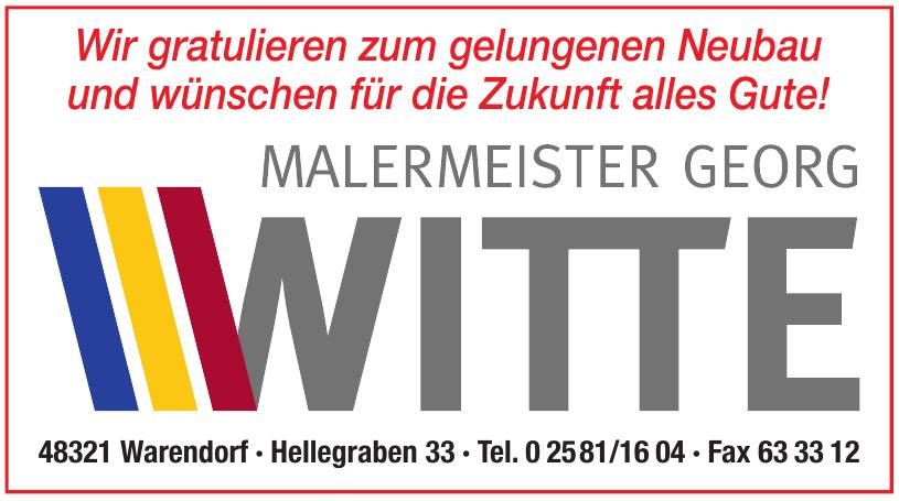 Malermeister Georg Witte
