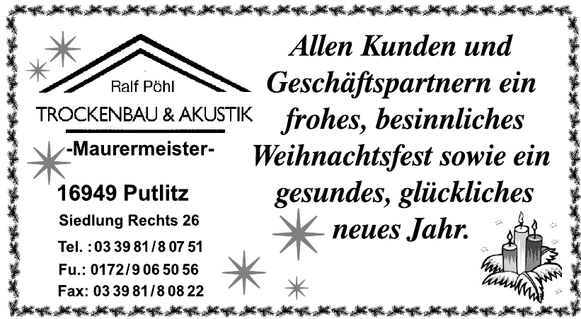 Ralf Pöhl Trockenbau & Akustik Maurermeister