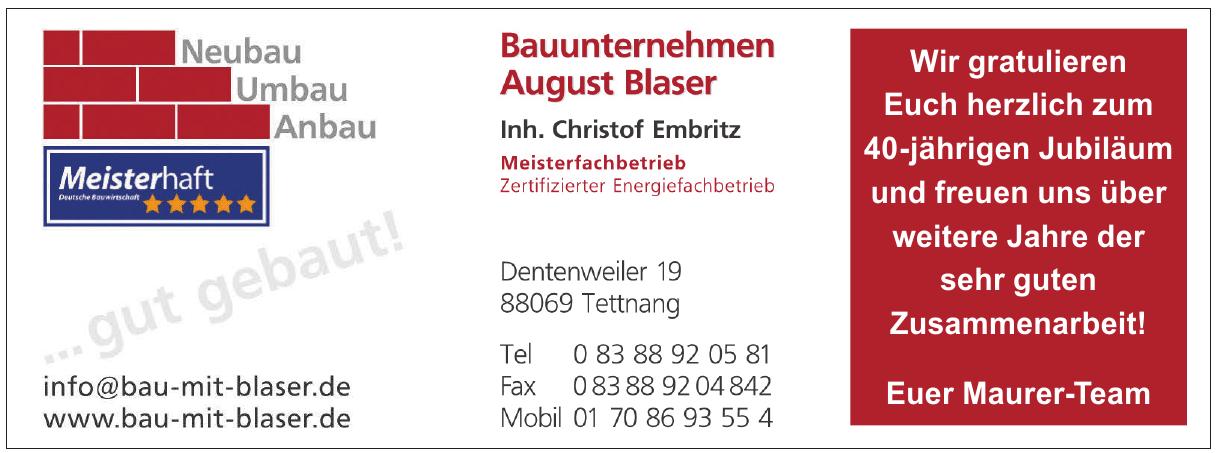 Bauunternehmen August Blaser