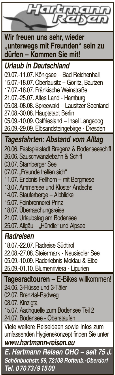 E. Hartmann Reisen OHG