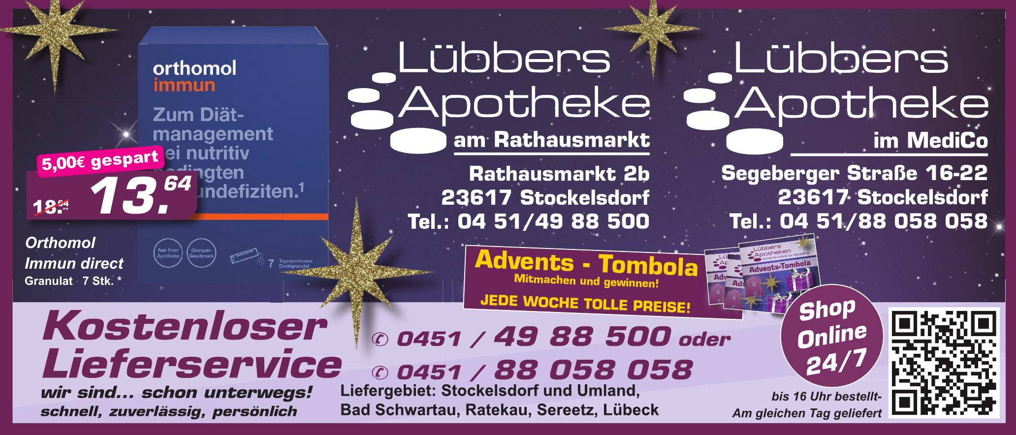 Lübbers Apotheke am Rathausmarkt