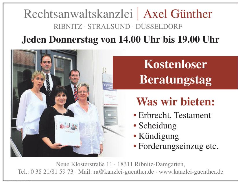 Rechtsanwaltskanzlei Axel Günther