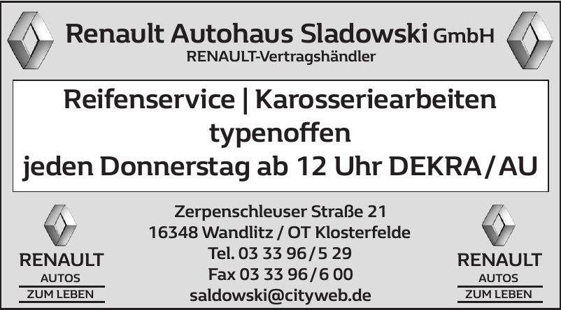 Renault Autohaus Sladowski GmbH