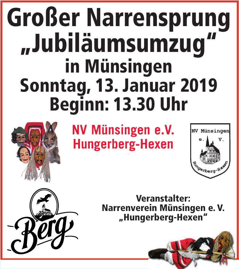 """Narrenverein Münsingen e. V. """"Hungerberg-Hexen"""""""