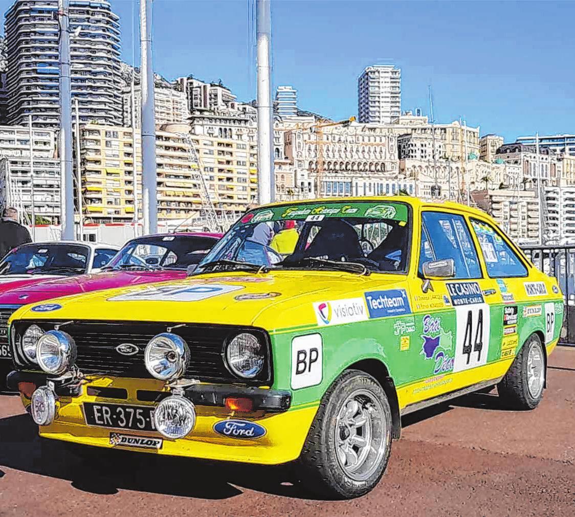 Mit einem Ford Escort Mk II RS 2 000 holten sich der Däne Henrik Bjerregaard und der Tscheche Jaromir Svec den Gesamtsieg bei der 23. Ausgabe der Ralley Monte-Carlo Historique. Foto: avd