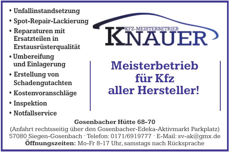 KFZ-Meisterbetrieb Knauer