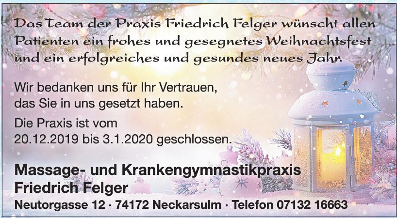 Massage- und Krankengymnastikpraxis Friedrich Felger