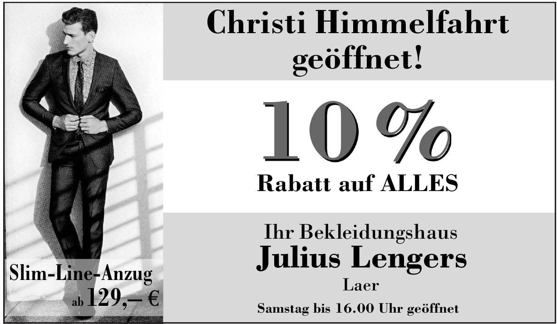 Julius Lengers , Bekleidungshaus