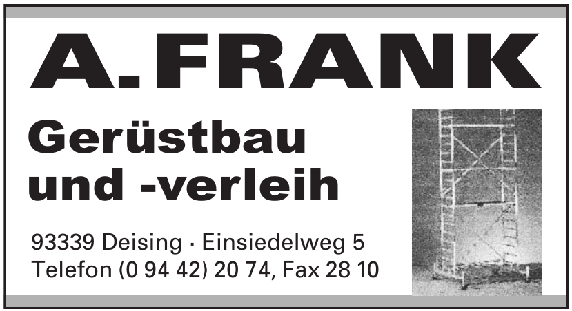 A. Frank Gerüstbau und -verleih