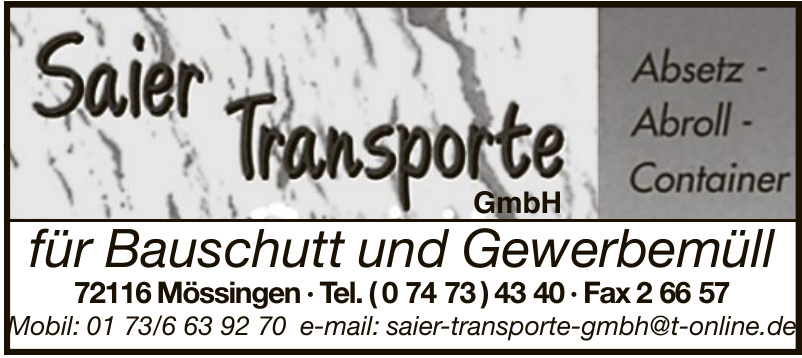 Saier Transporte GmbH
