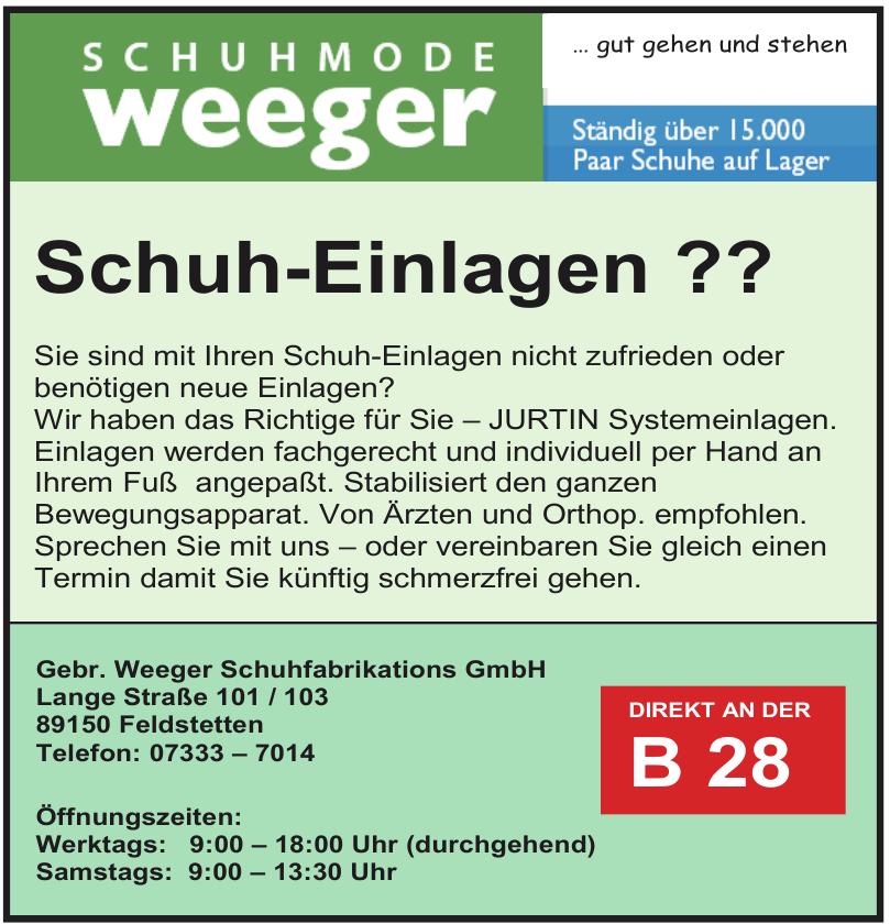 Gebr. Weeger Schuhfabrikations GmbH
