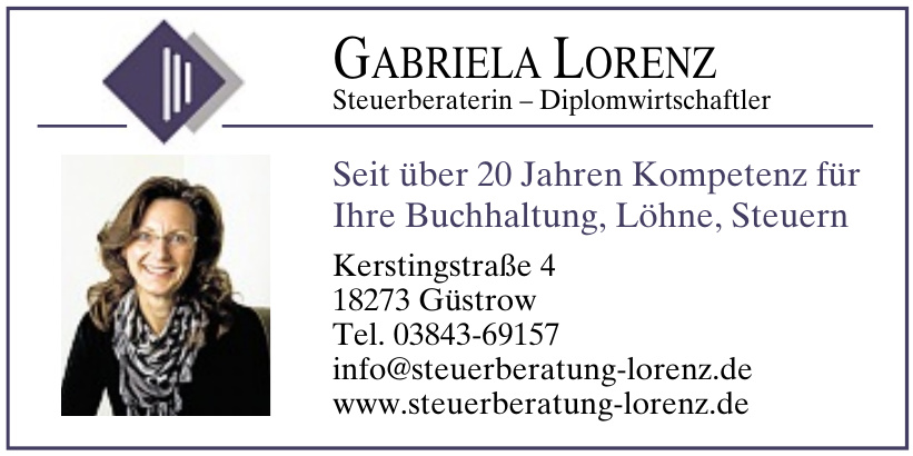 Gabriela Lorenz Steuerberaterin – Diplomwirtschaftler