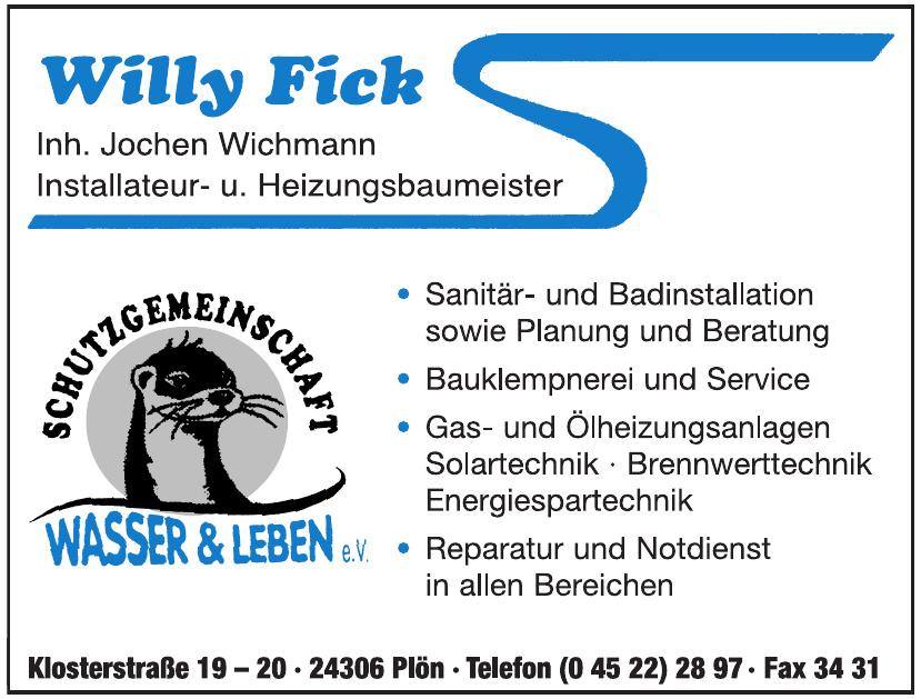 Schutzgemeinschaft Wasser & Leben e.V. Willy Fick
