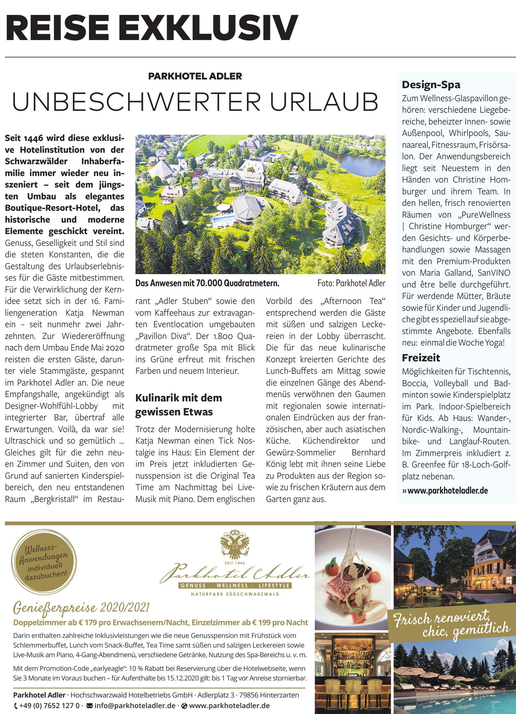 Parkhotel Adler - Hochschwarzwald Hotelbetriebs GmbH