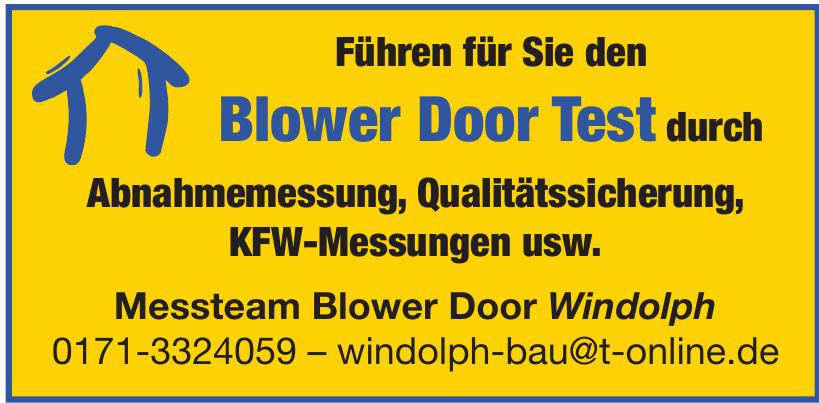 Messteam Blower Door Windolph